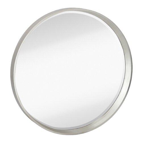 Majestic Mirror Contemporary Round Bevel Wall Mirror