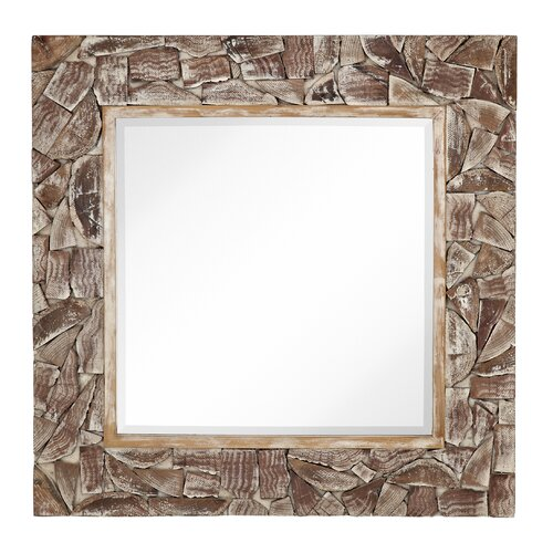 Mixed Media Natural Wood Mirror