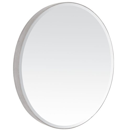 Contemporary Beveled Oval Mirror