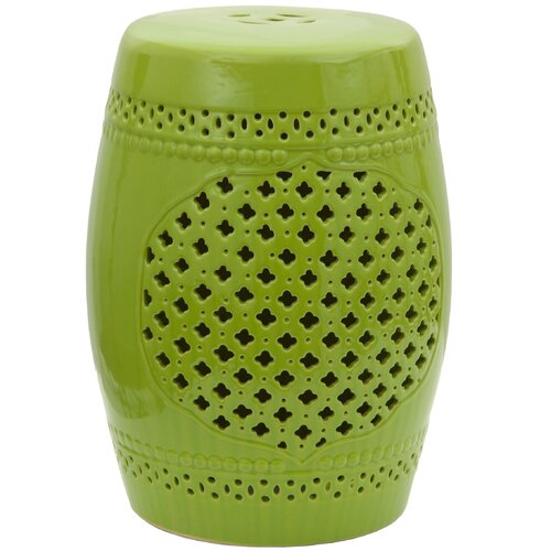 Lattice Porcelain Garden Stool