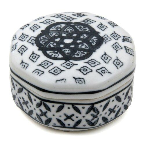 Small Medallions Porcelain Box