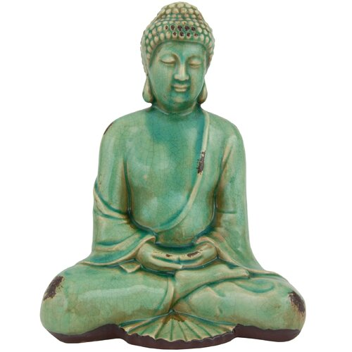 Oriental Furniture Japanese Sitting Buddha Statue