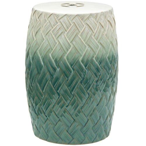 Oriental Furniture Carved Woven Design Porcelain Garden Stool