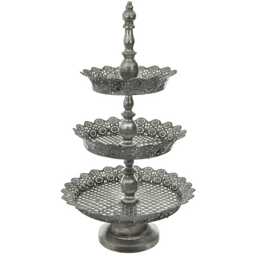 Oriental Furniture 3 Tier Plate Display Stand