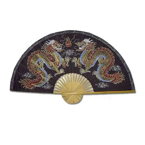 Oriental Furniture Chinese Dragons Oriental Fan Wall Décor