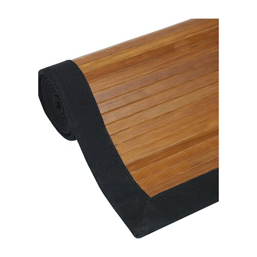 Oriental Furniture Burnt Bamboo Rug