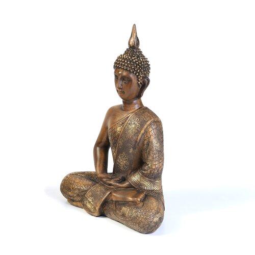 Oriental Furniture Thai Sitting Buddha Figurine