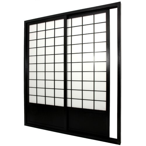 "Oriental Furniture 83"" x 73.5"" Single Sided Sliding Door Shoji Room Divider"