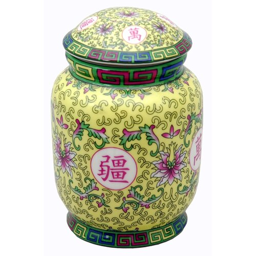 Oriental Furniture Decorative Tea Canister