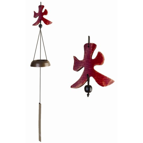 Oriental Furniture Five Elements Fire Wind Chime