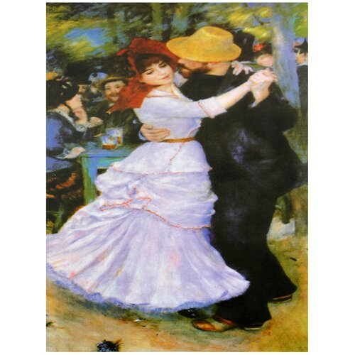 Oriental Furniture 'Dance at Bougival' by Renoir Painting Print on Canvas