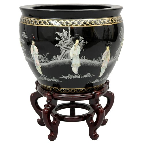 Oriental Furniture Ladies Vase
