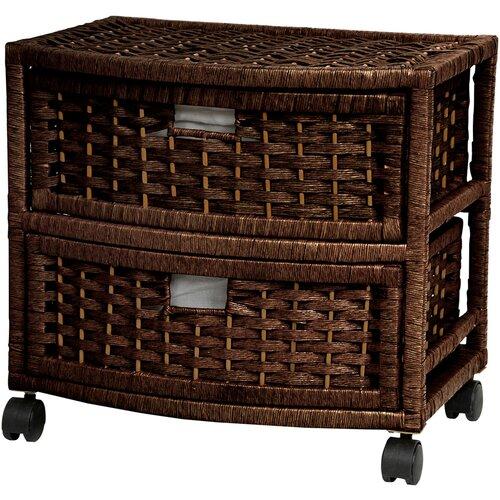 Oriental Furniture 2 Drawer Accent Chest