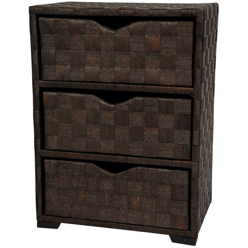 Oriental Furniture Chest of 3 Drawer