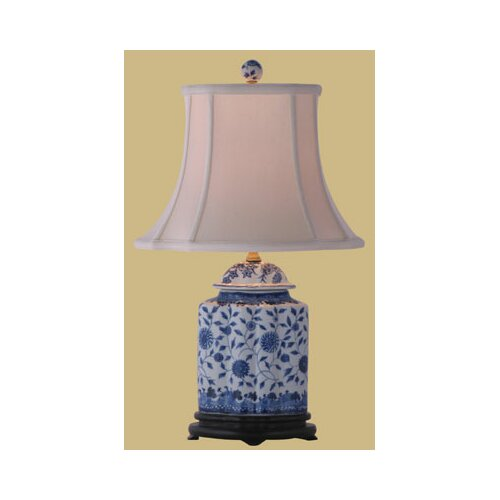 "Oriental Furniture Jar 23"" H Floral Table Lamp"