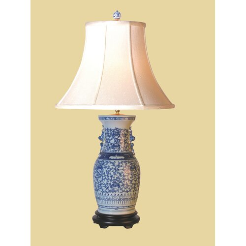"Oriental Furniture Classic 28.5"" H Table Lamp with Bell Shade"