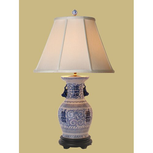 Oriental Furniture Double Happiness Table Lamp