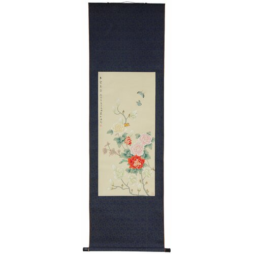 Oriental Furniture Blossom and Butterflies Wall Hanging