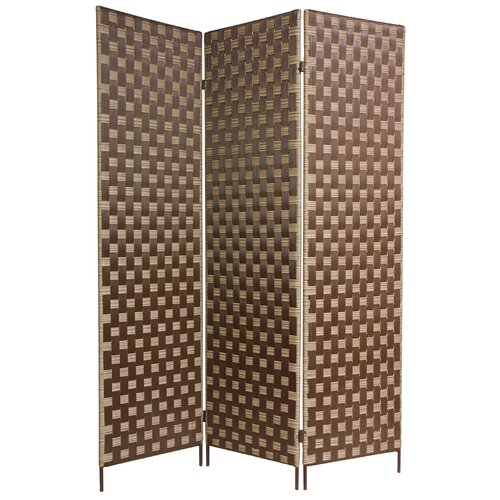 "Oriental Furniture 71"" x 54"" Island Outdoor 3 Panel Room Divider"