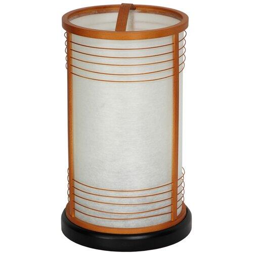 """Oriental Furniture Shinjuku Japanese Shoji 13.5"""" H Table Lamp with Drum Shade"""