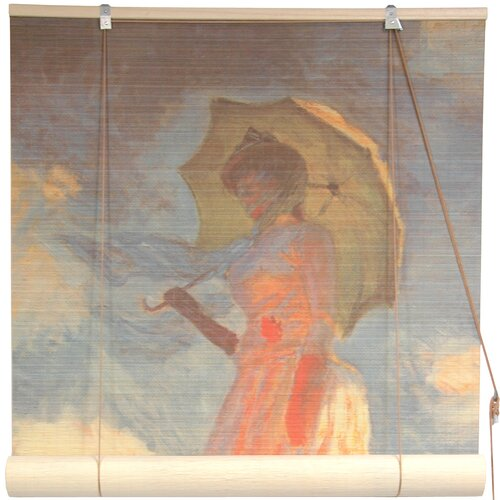 Girl with a Parasol Bamboo Roller Blind