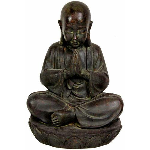 Sitting Japanese Zen Monk Figurine