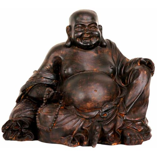 Sitting Laughing Buddha Figurine