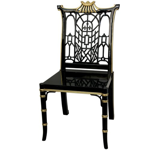 Oriental Furniture Pagoda Side Chair