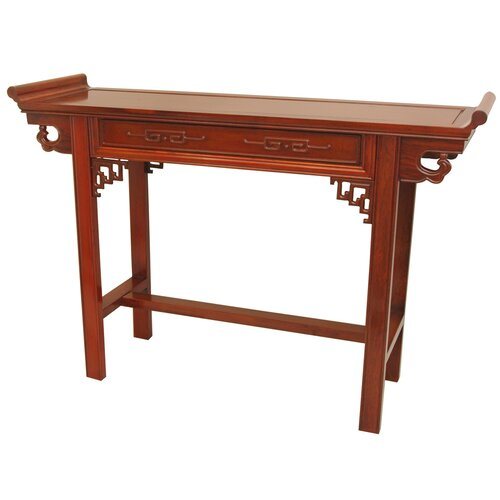 Oriental furniture qing hall console table reviews wayfair for Hall console table