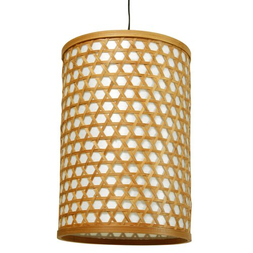 Oriental Furniture Japanese Desu Lattice 1 Light Hanging Lantern