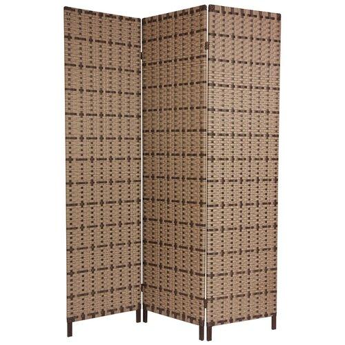 "Oriental Furniture 71"" x 48"" Tropical 3 Panel Room Divider"