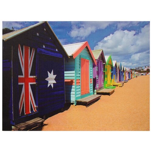 Oriental Furniture Beach Cabana Photographic Print on Canvas