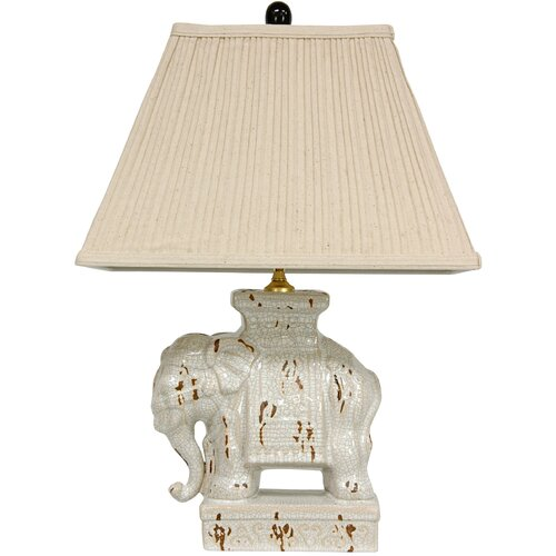 Oriental Furniture Elephant Decorative Table Lamp