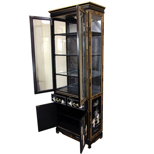 Oriental Furniture Mother of Pearl - Ladies Tall Curio Cabinet