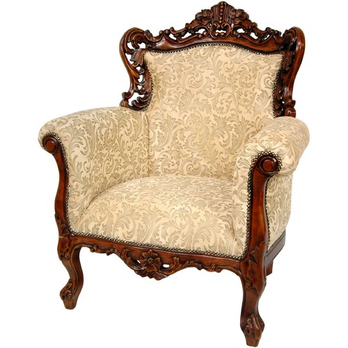 Oriental Furniture Queen Victoria Wing Chair