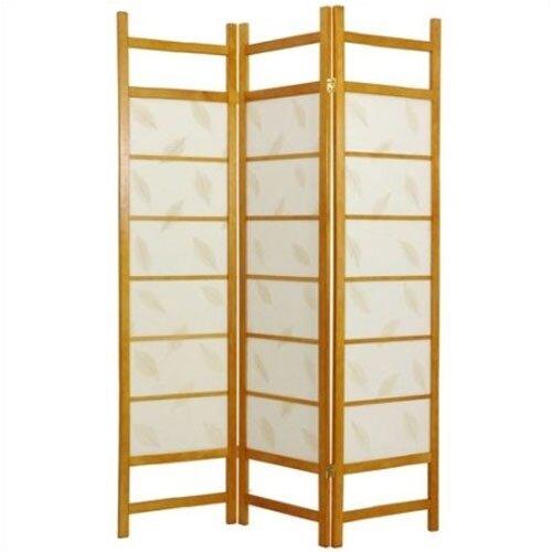 "Oriental Furniture 72"" x 42"" Botanic Decorative 3 Panel Room Divider"