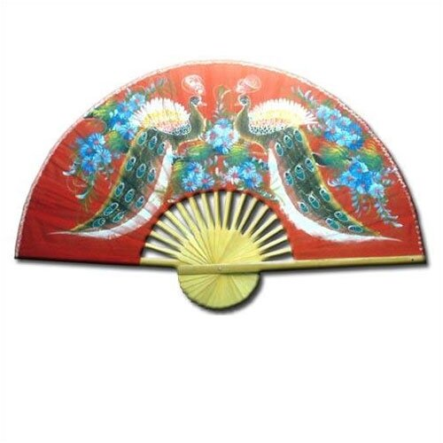 Oriental Furniture Wisdom of the Peacocks Oriental Fan Wall Décor