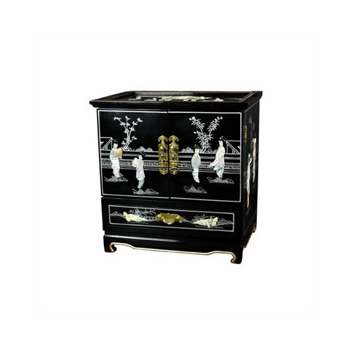 Lacquer Black Empress Jewelry Box