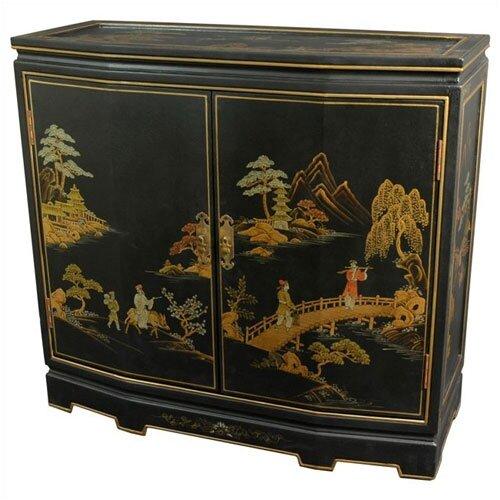 Landscape Japanese Slant Front Cabinet
