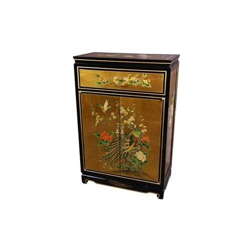 Asian Leaf Shoe Cabinet