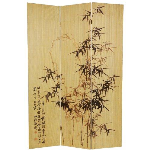 "Oriental Furniture 70.25"" x 46.5"" Bamboo Tree Frameless Design 3 Panel Room Divider"