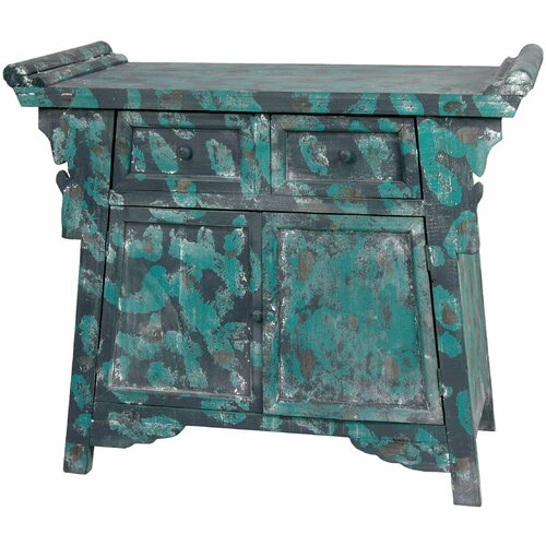 Oriental Furniture Altar 2 Drawer Cabinet