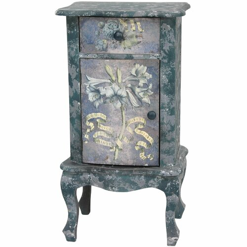 Oriental Furniture Rustic End Table
