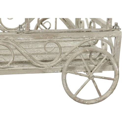 Oriental Furniture Handcart Outdoor Planter