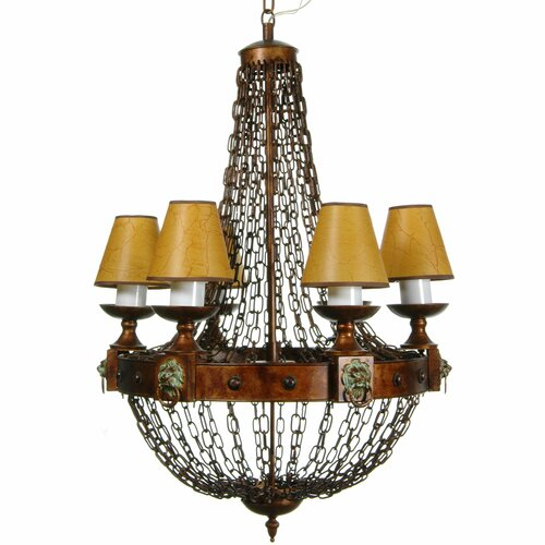 Old Fashioned Metal Chains Chandelier
