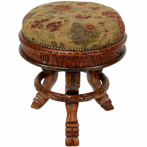 Oriental Furniture Queen Anne Tuffet Stool