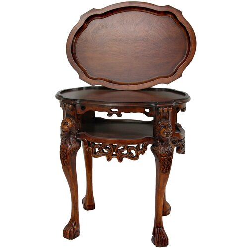Oriental Furniture Richard the Lionheart End Table
