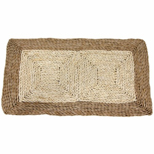 Oriental Furniture Rush Grass and Maize Two Tone Dark Ivory Area Rug