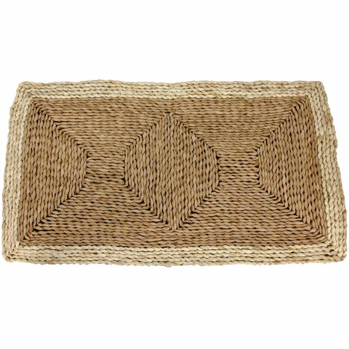 Oriental Furniture Rush Grass and Maize Two Tone Light Rug