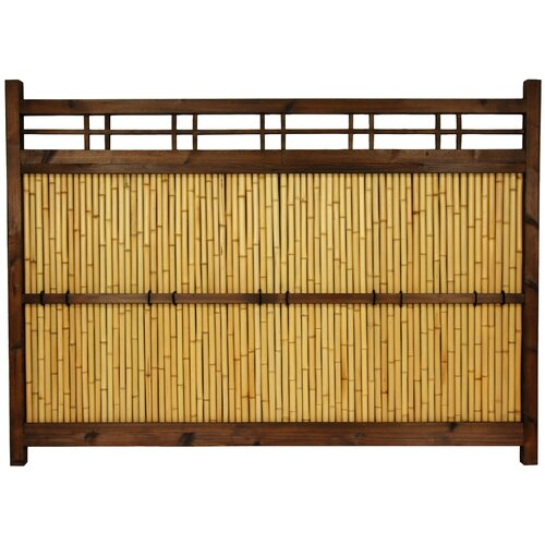 Oriental Furniture Japanese 4' x 5' Kumo Fence